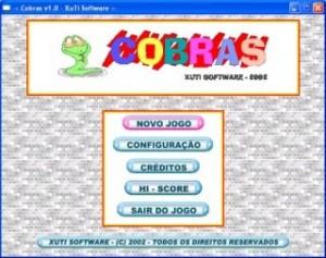 Jogo Cobras - Tela de abertura