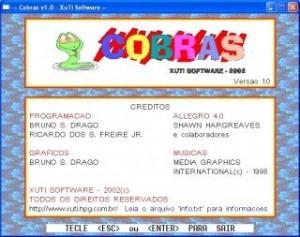 Jogo Cobras - Créditos