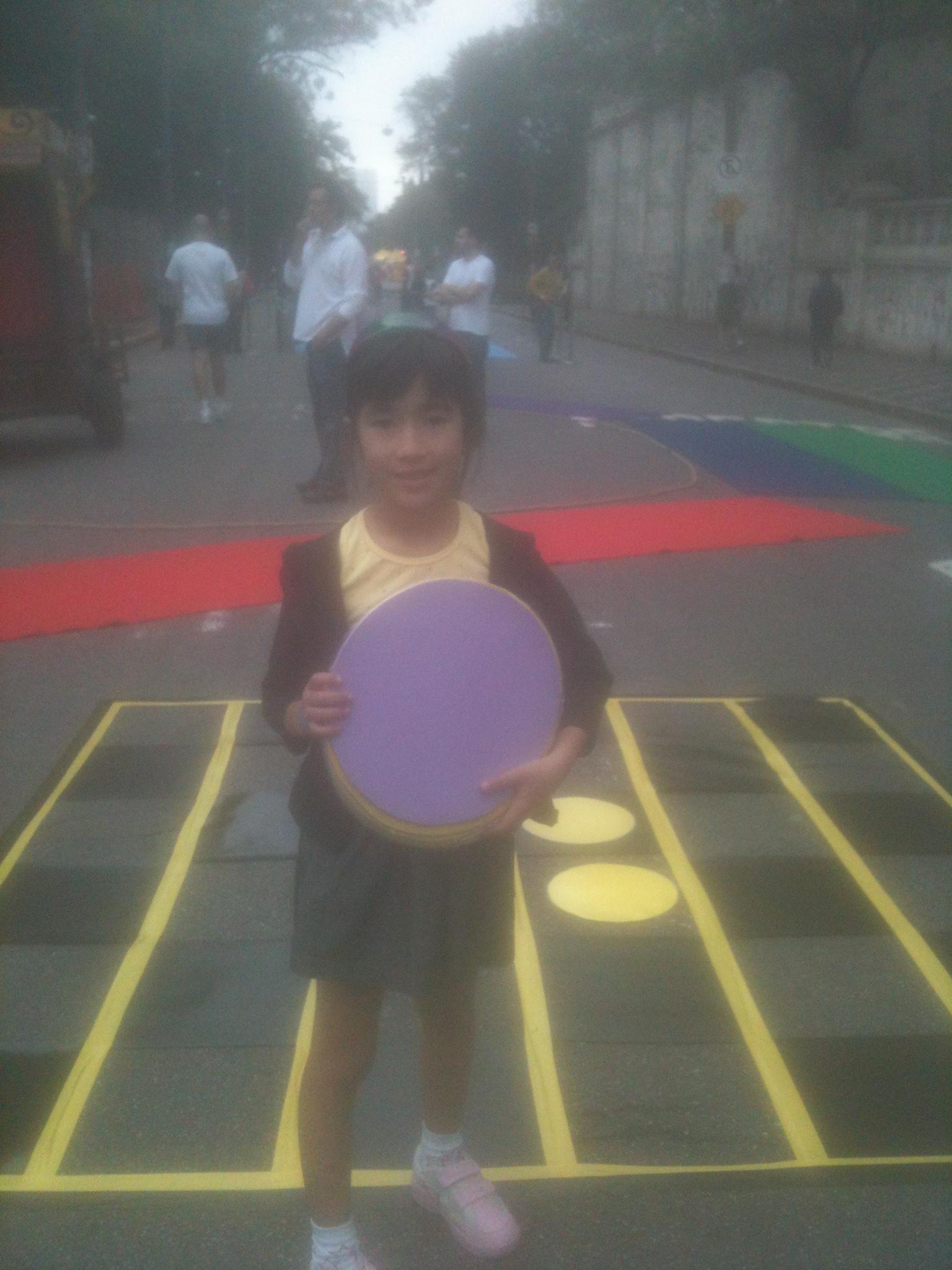 Jogo no meio da rua? É, nós levamso boardgames aos mais variados lugares.