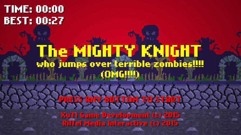 The Mighty Knight who jumps over the Terrible Zombies!